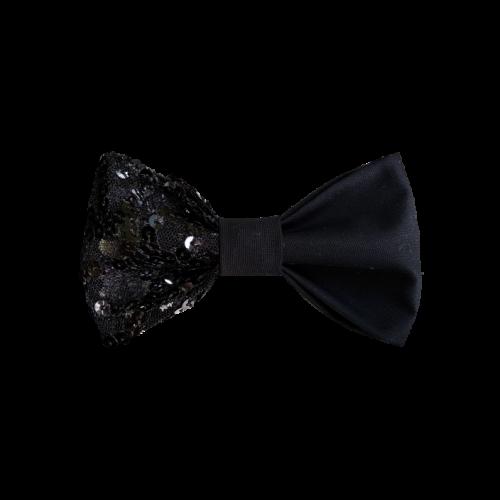 Kombinacija crnog pamuka presvučena tilom sa šljokicama