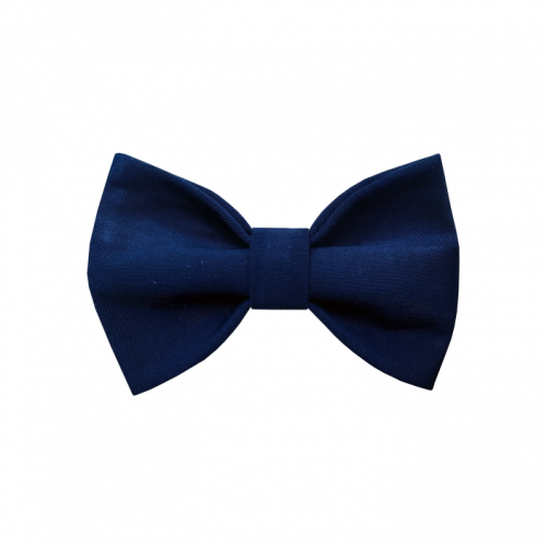 Plava pamučna mašna