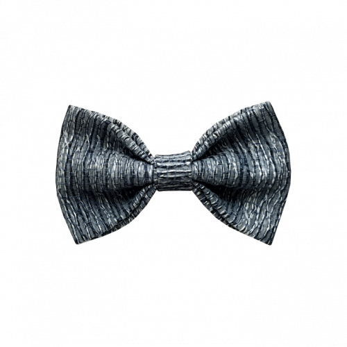Svetlo plava mašna protkana srebrnim nitima