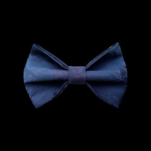 Plava leptir mašna sa plišanim ružicama