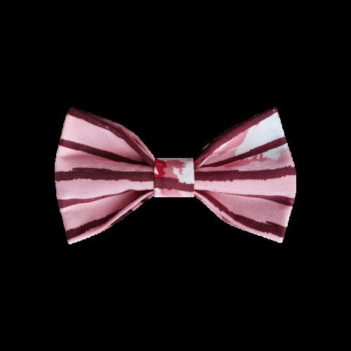 Roze mašna sa horizontalnim prugama