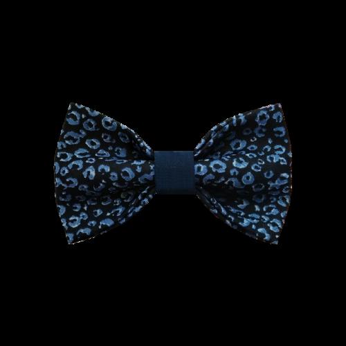 Tamno plava mašna sa motivom