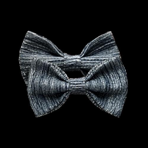 Kombinacija plavih mašni protkanih srebrnim nitma