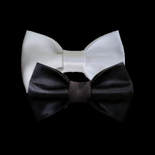 Kombinacija crno-belih mašni za parove