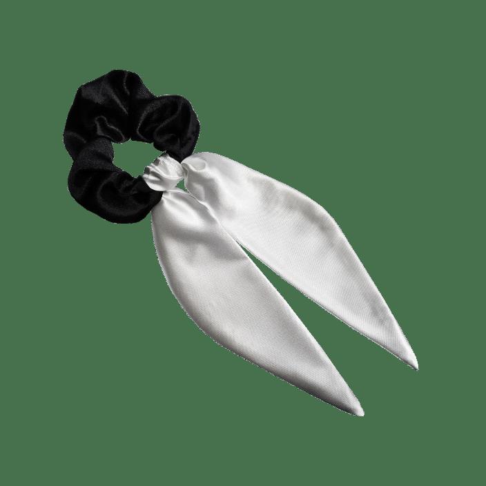 Mašna za kosu od belog satena
