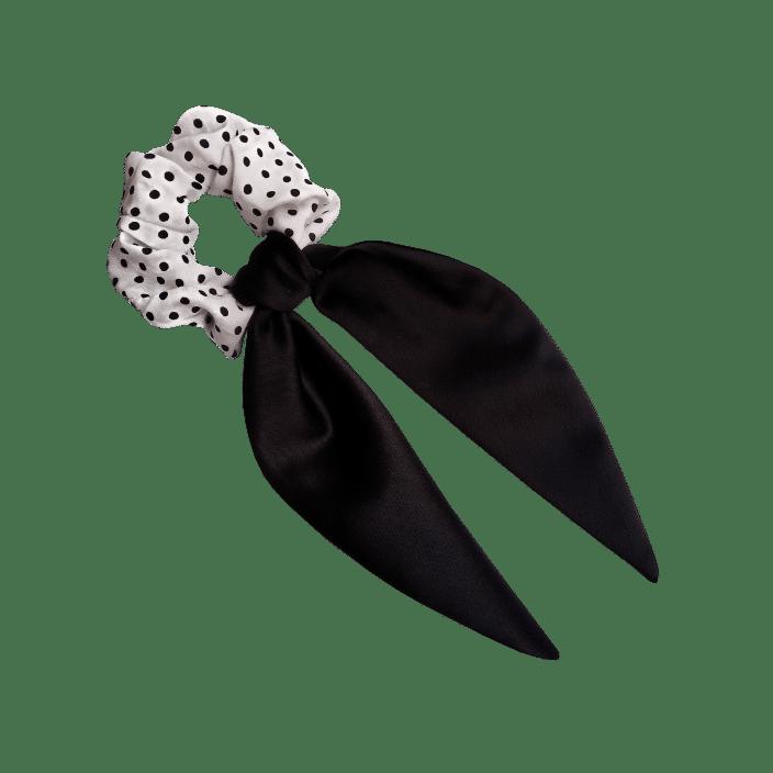 Mašna za kosu od crnog satena