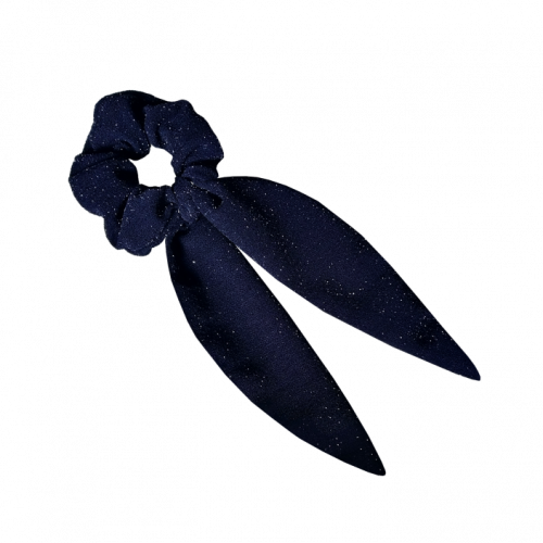Plava mašna za kosu sa sjajnim tačkicama