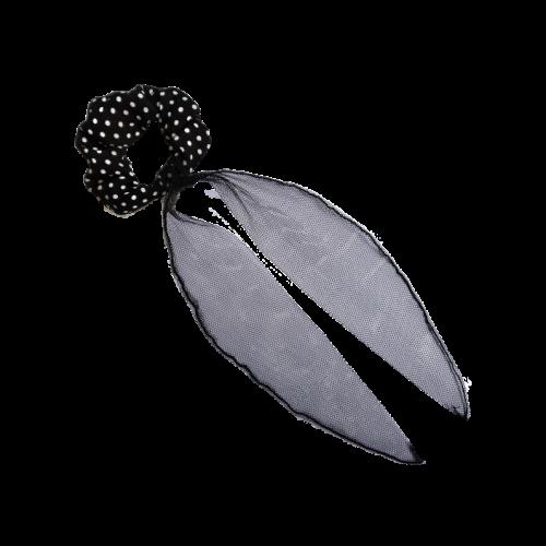 Mašna za kosu od crnog tila
