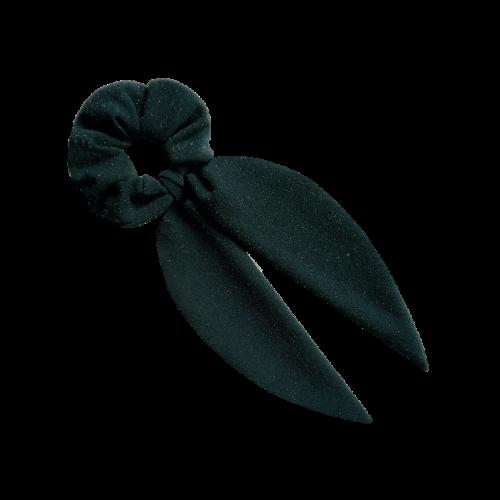 Zelena mašna za kosu sa sjajnim tačkicama